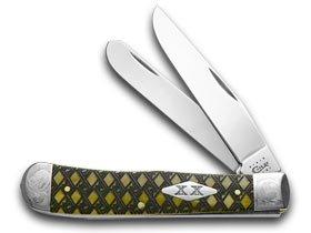 CASE XX Antique Bone Celtic Maze Trapper 1/500 Pocket Knife Knives