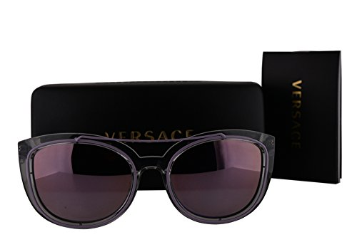 Versace VE4336 Sunglasses Gray Crystal w/Pink Mirror Lens 52545R VE - Versace Sunglasses Pink