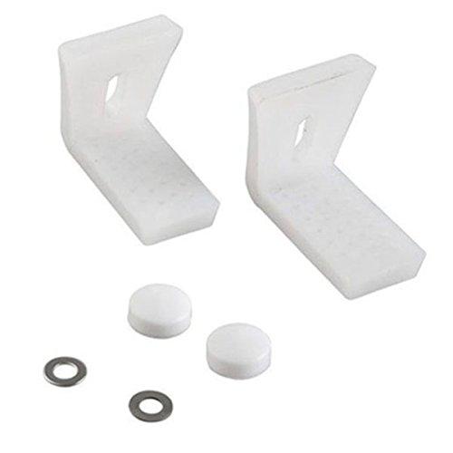 SODIAL Plancher incline de salle de bain Cuvette de WC Bidet ou Kit de boulons de fixation semi-piedestal