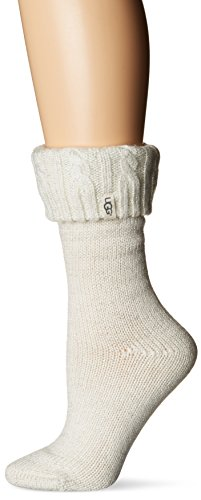 Ugg Boots Socks (UGG Women's Sparkle Short Rainboot Sock, Winter White/Silver, O/S)