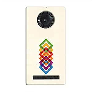 Cover it up Square Colours Hard Case for Micromax Yu Yuphoria - Multi Color