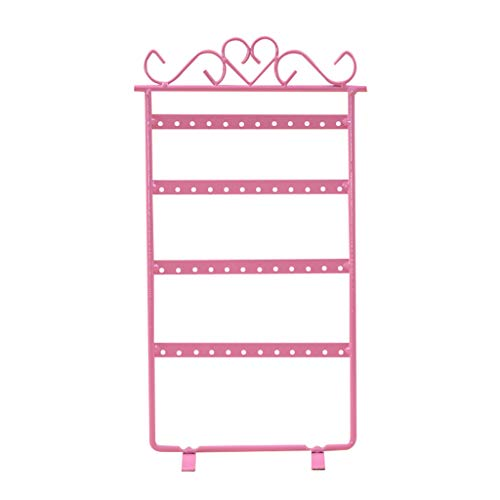 Redvive Top Metal Earring Display Rack Stands Jewelry Organizer Showcase 4 Layer 48 Holes