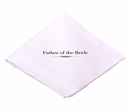 Lillian Rose AZ270001 FB White Father of The Bride Hankie (Father Of The Bride Handkerchief)