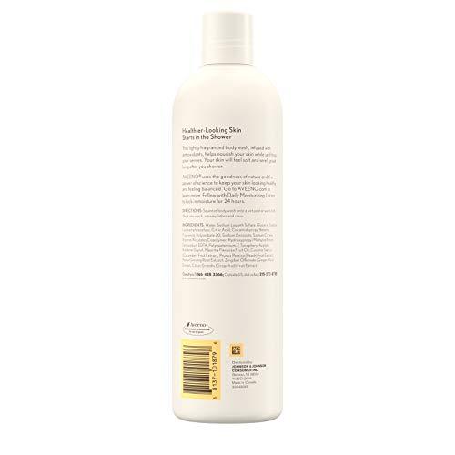 Aveeno Positively Nourishing Antioxidant Infused Body Wash with White Peach & Ginger, Lightly Scented Daily Nourishing Body Wash, 16 fl. oz