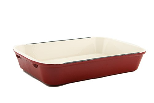 Useful. UH-CI197 Cast Iron Enameled 14-Inch Roasting and Lasagna Pan
