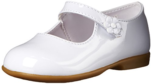Baby Deer Patent Mary Jane Mary Jane (Infant/Toddler/Big Kid),White,5 M US Toddler