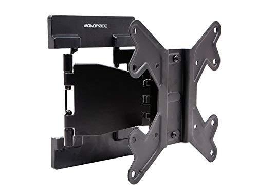 Monoprice Ultra-Slim Full-Motion Articulating TV Wall Mount Bracket - for TVs 23in to 42in Max Weight 66lbs VESA Patterns Up to 200x200 Works with Concrete & Brick