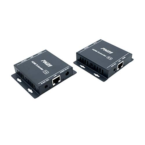 PW-HT217H(POC) HDMI Extender 196ft/60m Lossless Transmission Over cat5e/6 Support Full HD 1080p 3D EDID Loop Out for Local Display IR One Power Supply HDCP (UTP+RJ45+Transmitter + Receiver)