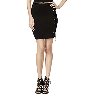 Guess Womens Callista Lace-Up Pull On Mini Skirt
