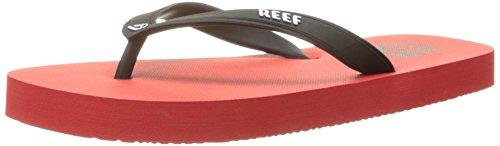 Reef Grom Switchfoot, Sandalias Flip-Flop para Niños Negro (Red)