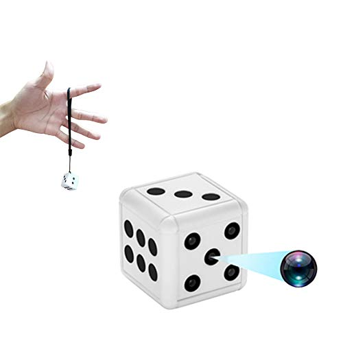 Dice Mini Spy Camera, 1080P Portable Wireless Nanny Cam with Night Vision and Motion Detection, Covert Security Camera for Home and Office