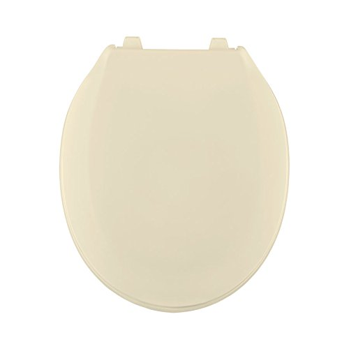 Centoco 440TM-106-A Plastic Round Toilet Seat with Closed Front, Bone by Centoco (Image #1)