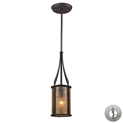 (Barringer 1-Light Mini Pendant And Tan Mica Shade Includes An Adapter Kit To Allow For Easy Conversion Of A Recessed Light To A Pendant)