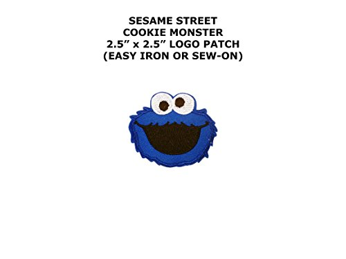 Cookie Monster Sesame Street Embroidered Iron/Sew-on Comics Cartoon Theme Logo Patch/Applique - Sesame Street Aliens Costumes