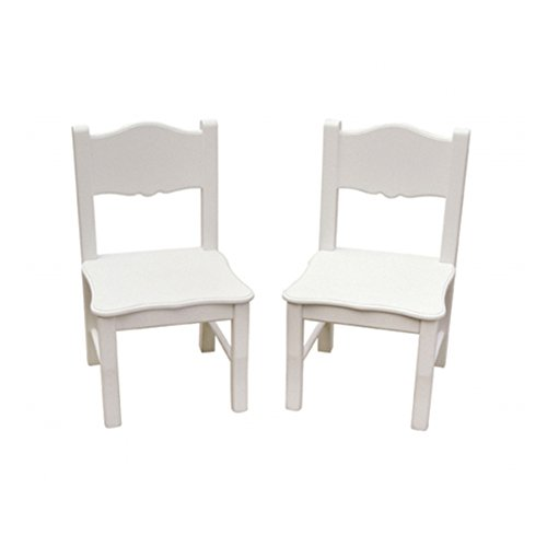 Guidecraft Classic White Extra Chairs Kids Furniture - Set of 2