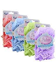 Sudzeez Exfoliating Soap Pouch, 4 Pack: Blue, Pink, Purple, -