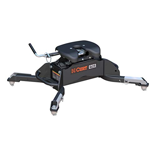 CURT 16049 Black Q25 5th Wheel Hitch for Ram Puck System, 25,000 lbs.