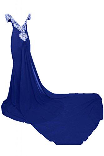 Romantic da donna vestiti da L Blu spalla abito Maxi sera Pageant a per Sunvary scollo Off UH6xqpOwdU