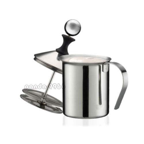 Price comparison product image 1 Pc of Stainless Steel 400ML Mesh Milk Frother Coffee Foamer Creamer Double Froth Pump