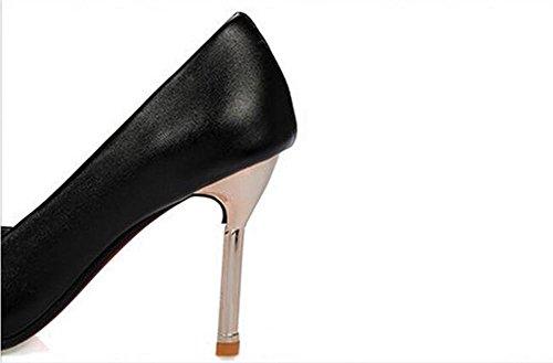 Femmes Charm Pointed à la bouche superficielle travail tribunal chaussures , black , 37