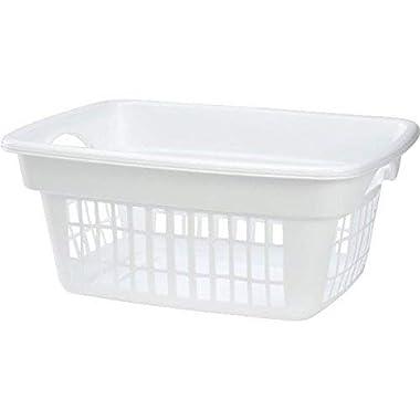 Rubbermaid Through-Handle Laundry Basket (FG287400WHT)