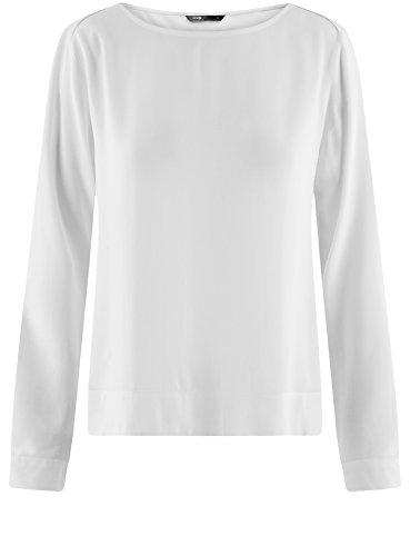 Blanc 1200n Basique Ultra Chemisier oodji en Viscose Femme WYz8O6T