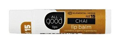 Flavored Spf 15 Lip Balm (All Good Lip Balm, SPF 15 Chai)