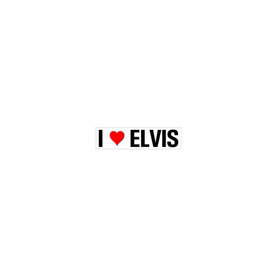 I Heart Love Elvis   Window Bumper Sticker