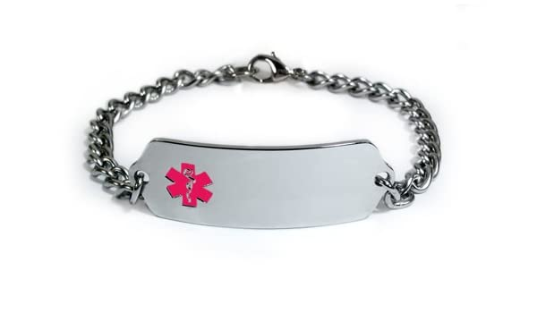 Amazon.com: LUPUS Medical ID Alert Bracelet with Embossed emblem from stainless steel. Style: Classic wide, premium series.: Health & Personal Care
