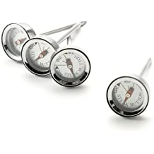 Charcoal Companion Reusable Steak Button Thermometers, Set of 4