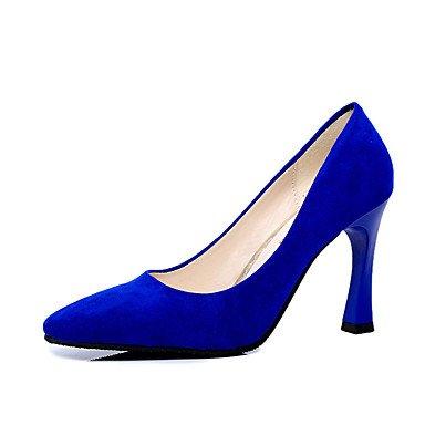 WSX&PLM Da donna-Tacchi-Casual-Comoda-Quadrato-PU (Poliuretano)-Nero Blu Rosso Argento Borgogna , black , us8 / eu39 / uk6 / cn39