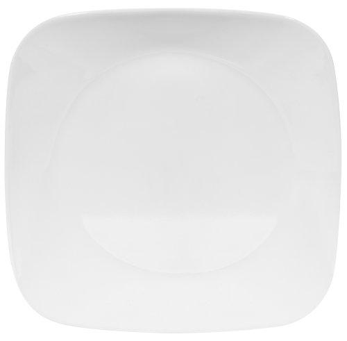 Corelle Square 8-3/4-Inch Luncheon Plate, Pure White by Corelle
