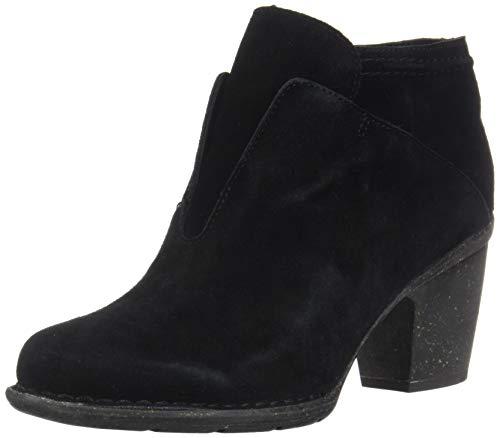 CLARKS Womens Carleta York Boot, Black Suede, Size 8.5