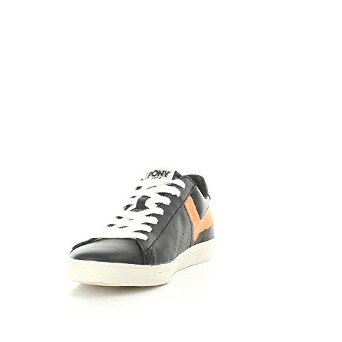 Pony 634J Top Star Ox New York Sneakers Uomo Black Orange
