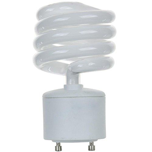 (Sunlite SL23/GU24/41K SL23/GU24/41K 23-watt GU24 Spiral Energy Saving GU24 Base CFL Light Bulb, Cool White)
