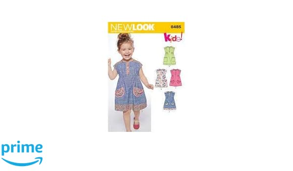 New Look Girls Easy Sewing Pattern 6485 Dresses /& Tunic Tops NewLook-6485
