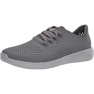 Crocs Men's LiteRide Pacer Sneaker, Charcoal/Light Grey, 8 M US