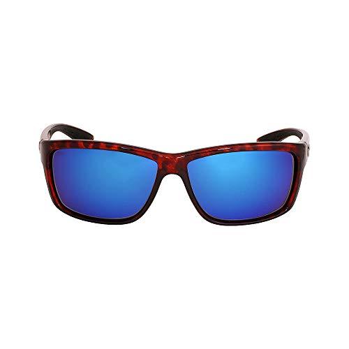 Costa Del Mar Mag Bay Sunglasses Tortoise/Blue Mirror 580Glass Costa Del Mar Lightweight Sunglasses