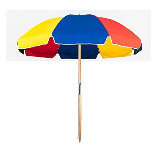 7.5 ft.Steel Commercial Grade Beach Umbrella with Ash Wood Pole & Carry Bag