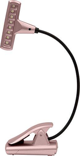 - UltraBrite UBL018-RGD 8-LED Clip Anywhere Long Lasting Book Light AC/DC Rose Gold