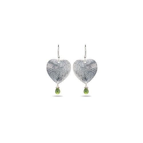 1.50 Cts Peridot Earrings in Sterling Silver