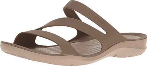 Crocs Women's Swiftwater Sandal Sport, Walnut, 8 M US (Shoes Women For Dsw)