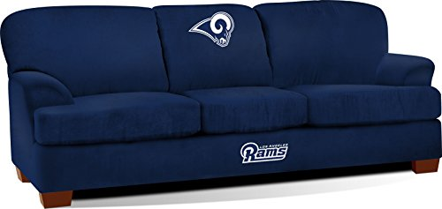 Imperial Officially Licensed NFL Furniture: First Team Microfiber Sofa/Couch, Los Angeles Rams by Imperial
