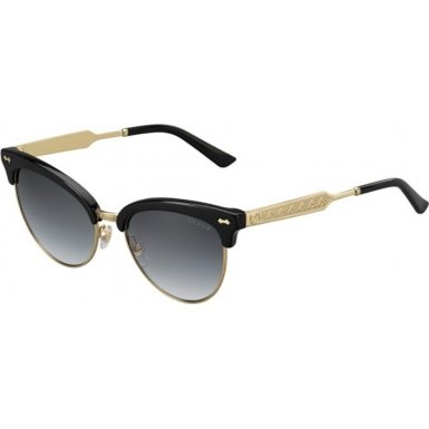 Gucci Women's Damascato Cat Eye Sunglasses, Black/Dark Grey, One - Frames Gucci Cat Eye
