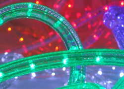 Neo Neon Led (CBconcept 120VLR50FT-Green 50-Feet 120V 2-Wire 1/2-Inch LED Rope Light with 1.0-Inch LED Spacing)