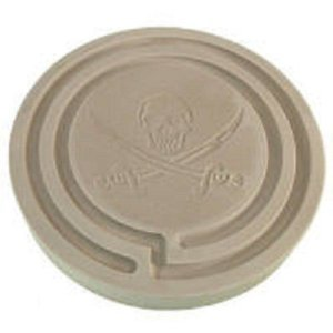 Azenta Products 42737 ~ Jolly Roger ~ 2 Hour Powder Incense Stone Burner (2 Incense Powder Hour Burner)