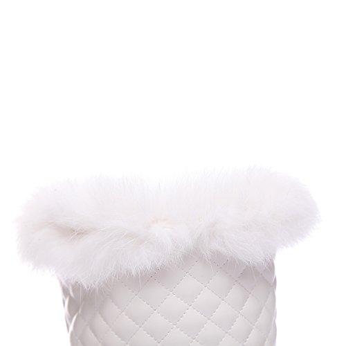 Uréthane En De Femmes De Neige Par Froid De Neige Sans Bottes Solide Temps Des Blanc Bottes Balamasa Fermeture axqZSS