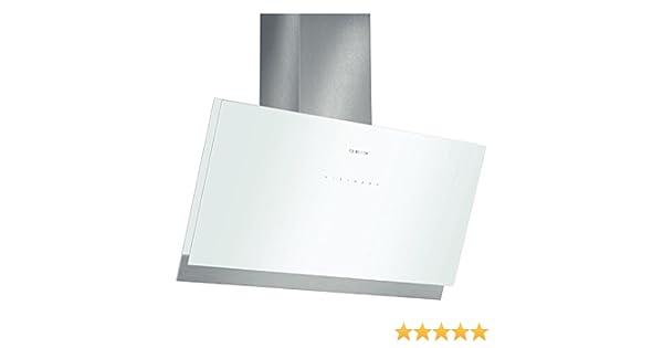 Bosch DWK098G21 - Campana (Canalizado/Recirculación, 850 m³/h, A, Montado en pared, LED, 209 Lux) Acero inoxidable, Color blanco: Amazon.es: Hogar
