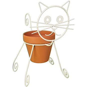 Amazon Com Cat Planter Pot Holder Garden Amp Outdoor