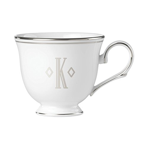 (Lenox Federal Platinum Block Monogram Dinnerware Teacup, K)